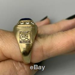 14k Gold Diamond Ring with Blue Sapphire and 20 Gm 0.64 TCW Rare Collection