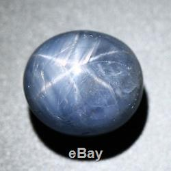 18.29 Cts Awesome Big Very Rare Stone 100 % Natural Unheated Blue Star Sapphire
