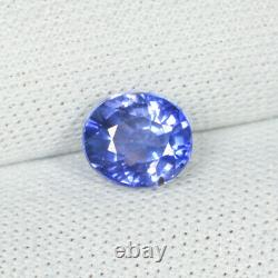 1.21 ct RARE LUSTROUS PURPLE BLUE NATURAL SAPPHIRE OVAL See Vdo 6C