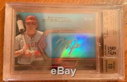 2013 Bowman Sterling Mike Trout Blue Sapphire Auto BGS 9.5 10 RARE