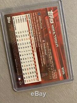 2017 Topps Chrome Sapphire #20 Mike Trout Blue Refractor Base Super Rare Sp/150