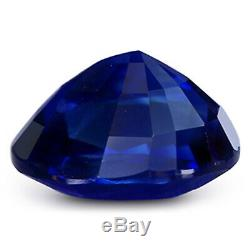 3.85 ct GRS Certified Rare Natural Royal Blue Sapphire Oval Unheated Gemstone
