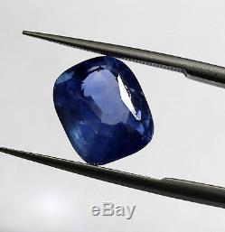 5.21 Ct Natural Top Grade Blue Sapphire Rare Cushion Mix Cut Use For Ring Loose
