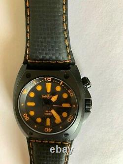Bell & Ross BR02 Diver Orange Excellent Condition Discontinued RARE