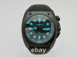 Bell & Ross BR 02 Automatic 1000M Diving Wristwatch Rare Blue Color 44 MM