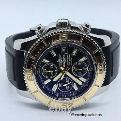 Breitling Superocean Rose Gold Chronograph C13341 Boxes Papers Rare Rubber Strap