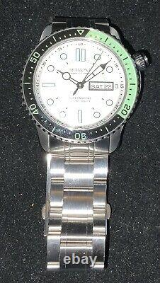 Bremont Supermarine S500 Bracelet COSC Certified. RARE Silver/ All Lume Dial
