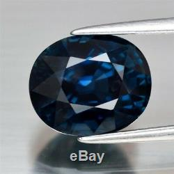 CERTIFICATE Inc. Huge Rare! 6.00ct VS Oval Natural Unheated Green Blue Sapphire