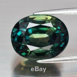 CERTIFICATE Inc. Huge Rare! 8.09ct VVS Oval Natural Unheated Green Blue Sapphire