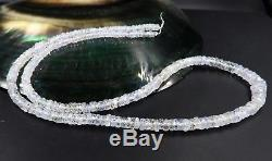 CEYLON ICE BLUE FACETED AAAAA SAPPHIRE BEADS 14.5 inches STUNNING VERY RARE
