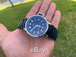 Corum Admiral's Cup Trophy 41 Case Automatic Flags Steel Rubber 082.833.20 Rare