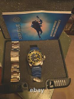 Deep Blue Rare Black with Orange Markers Master 2000 Dive Watch