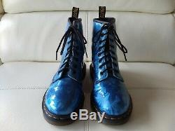 Doc Dr. Martens Sapphire Jewel Boots Metallic Prism Holographic Rare 5uk Usw7m6