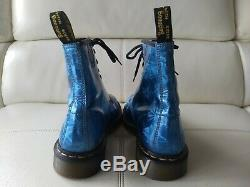 Doc Dr. Martens Sapphire Jewel Boots Metallic Prism Holographic Rare 6uk Usw8m7