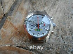 Extremely rare vintage russian s. Steel chronograph watch STURMANSKIE, cal. 3133