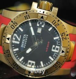 Invicta Men's Rare Excursion Swiss Reserve Black Dial Red Poly Watch 90058