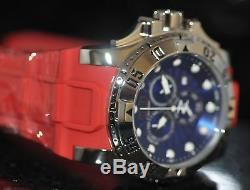 Invicta Men's Rare Excursion Swiss Reserve Chrono Blue Dial Red Poly Watch 18689