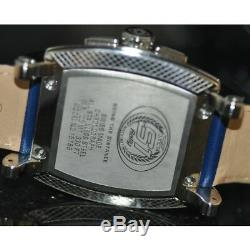 Invicta Men's Rare S1 Rally Swiss Chrono Silver Dial Blue Leather Watch 15789