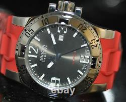 Invicta Mens Rare Excursion Swiss Reserve Grey Dial Red Polyurethane Watch 90052