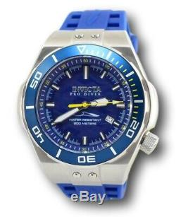 Invicta Pro Diver Automatic 25691 Men's 53mm Blue Silicone Stainless Watch RARE