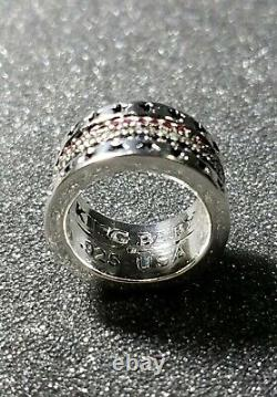 King Baby Studio American Flag (Red, White, Blue) Sapphires Ring. RARE. Size 11