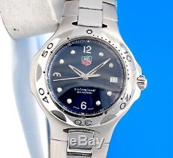 Mens Tag Heuer Kirium SS watch Blue Dial WL1013 Rare 39MM Version