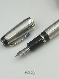 Montblanc Bohème Very Rare Sterling Silver and Sapphire Fountain Pen