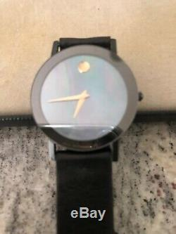 Movado Museum Blue Mother Pearl 18 K Gold Instruments. VERY RARE BLUE DIAL