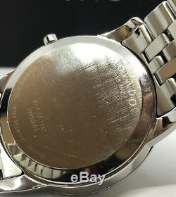 Movado Museum Classic 40MM RARE Blue Dial $795 Men's Stainless Watch 0606982