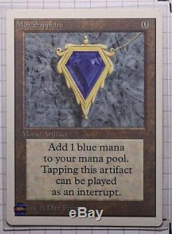 Mox Sapphire Unlimited Magic The Gathering Individual Cards very light play