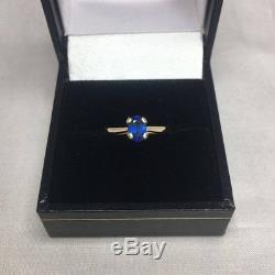NATURAL Ceylon Blue Sapphire Gold Ring 0.96ct Sri Lanka RARE Oval Cut Gem