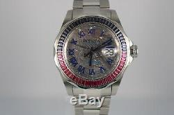 NEW VERY RARE Invicta Sapphire PINK BLUE METEORITE Dial Automatic Reserve 5174
