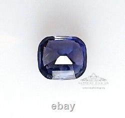 No Heat Color Change Sapphire, 2.16 ct Rare Blue to Purple GIA Certified