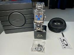 Oakley Minute Machine 26-328 Polished with Blue Dial Wrist Watch Extremely RARE