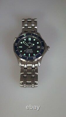 Omega 36mm Seamaster Steel Papers 2551.80 Auto. Rare Mid Size. Fully Serviced