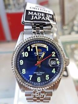 Orient President Oyster Classic Automatic Sapphire Blue Dial Rare Watch Japan