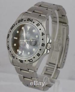 RARE 1986 Rolex Explorer II Spider Rail Dial Fat Font 16550 Stainless Black GMT