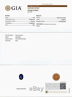RARE! 2.40ct Oval Natural Blue Sapphire, Heated Only Full Report GIA Certified