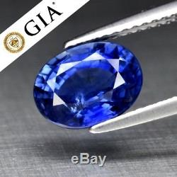 RARE! 2.68ct Oval Natural Blue Sapphire, Heated Only Full Report GIA Certified