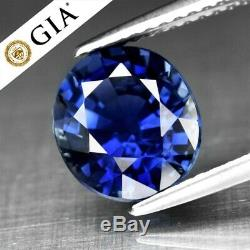 RARE! 3.10ct 9x8mm VVS Oval Natural Blue Sapphire Full Report GIA Certified