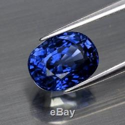 RARE 4.97ct VVS Oval Natural Blue Sapphire Heated Only Full Report GIA Certified