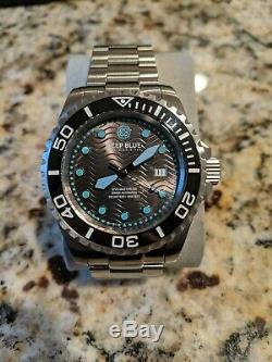 RARE Deep Blue Dive Master 500 Swiss Automatic Dive Watch Ceramic Bezel 500m WR