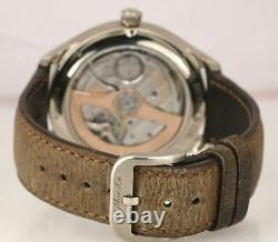 RARE H Moser & Cie Endeavour Flying Hours 1806-200 Blue 18K White Gold Auto 42mm