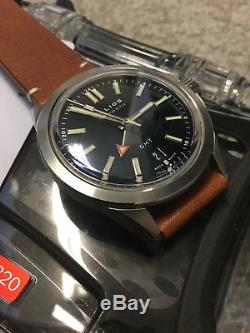 RARE Halios Seaforth GMT Abyss Blue Fixed Bezel