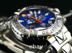 RARE Invicta 47mm LE SAN II Swiss Made 7750 Automatic Blue Dial Sapphire Watch