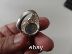 RARE NATURAL SAPPHIRE HUGE CAB MEN'S RING size 9.75