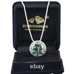 Rare 14.03 Ct Blue Diamond Pendant With White Sapphire Accents, WATCH VIDEO