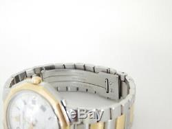 Rare! Authentic Baume & Mercier Riviera 5131 038 Two Tone 18k Gold SS