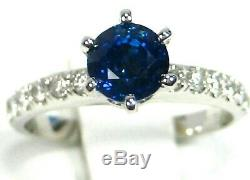 Rare Blue Sapphire Ring 18K white gold Certified Natural Heirloom App $3,489