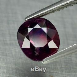 Rare! Certified 2.59ct Oval Natural Unheated Corundum Red Ruby & Blue Sapphire